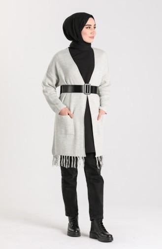 Knitwear Tasseled Sweater 4256-04 Gray 4256-04