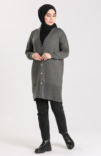Knitwear Buttoned Sweater 4264-02 Anthracite 4264-02