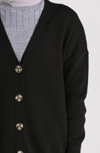 Knitwear Buttoned Sweater 4264-03 Black 4264-03