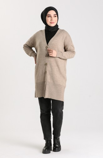 Knitwear Buttoned Sweater 4264-04 Mink 4264-04