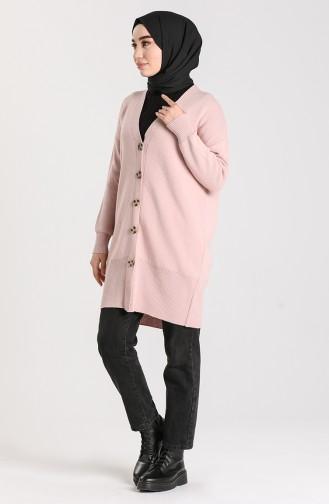 Knitwear Buttoned Sweater 4264-06 Powder 4264-06