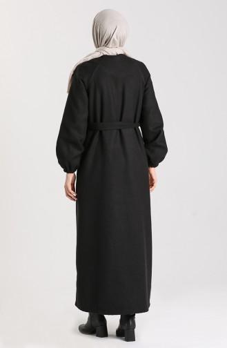 Black Lange Jas 6869-01