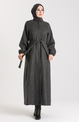معطف طويل رمادي 6869-02