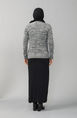 Grau Pullover 9114-04