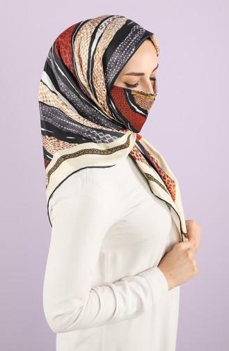 Art Scarf Mask Combination -art-esp-16 Cream Tile 16