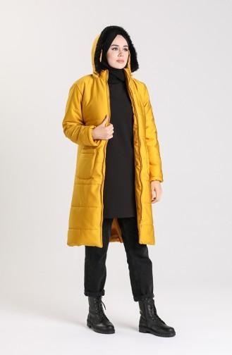 Zipper quilted Vest 1052D-02 Mustard 1052D-02