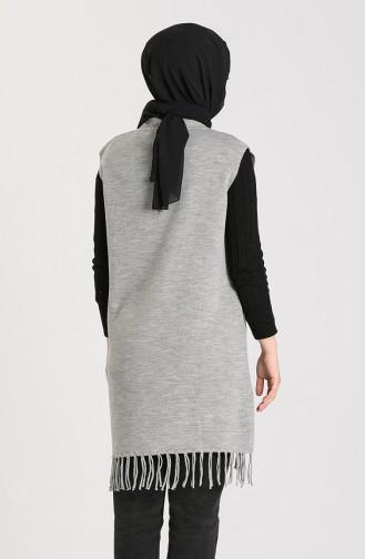 Knitwear Tasseled Sweater 4257-03 Gray 4257-03