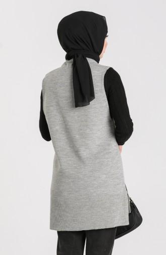 Knitwear V-neck Sweater 4261-03 Gray 4261-03