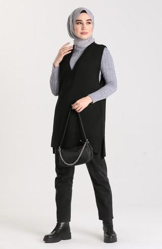 Knitwear V-neck Sweater 4261-05 Black 4261-05