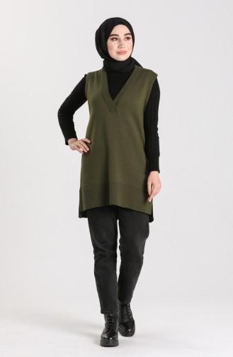 Knitwear V-neck Sweater 4261-07 Khaki 4261-07