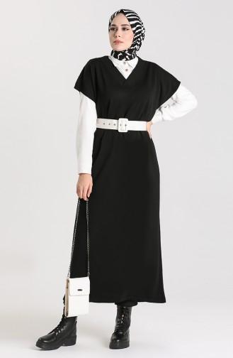 Knitwear Long Sweater 1099-01 Black 1099-01