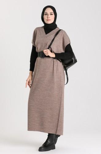 Knitwear Long Sweater 1099-04 Mink 1099-04