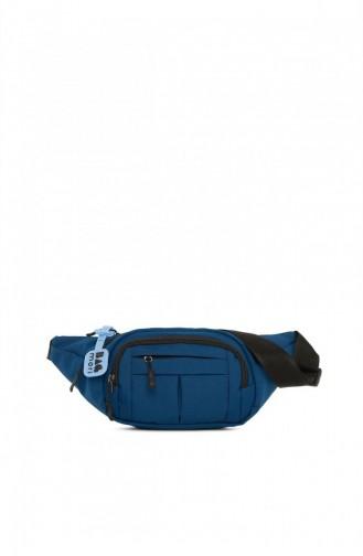 Bagmori Çok Cepli Paraşüt Bel Çantası M000005336 Mavi