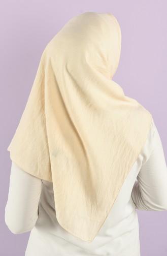 Karaca Plain Silvery Viscose Scarf 90747-07 Cream 90747-07