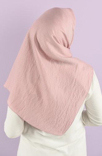 Karaca Plain Silvery Viscose Scarf 90747-15 Light Rose Dry 90747-15