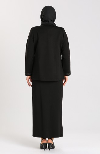 Plus Size Stone Print Sweater 0710-04 Black 0710-04