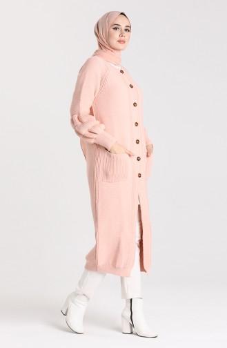 Knitwear Buttoned Sweater 10206-04 Powder 10206-04