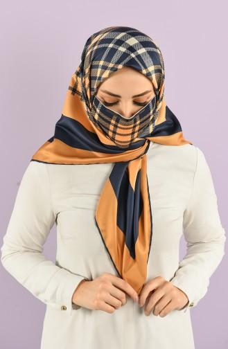 Safran-Farbe Kopftuch 02