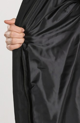 Fur quilted Coat 5162-01 Black 5162-01