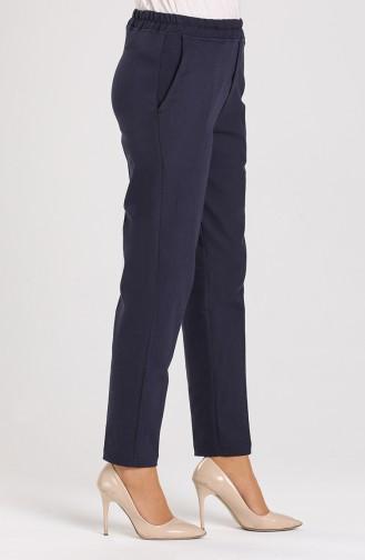 Elastic waist Pants 5346-03 Navy Blue 5346-03