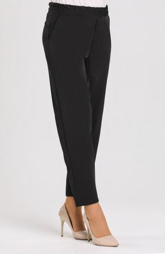 Elastic waist Trousers 5346a-01 Black 5346A-01