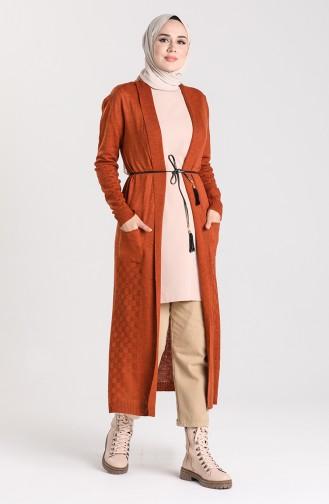 Knitwear Long Sweater 55221B-09 Tile 55221B-09