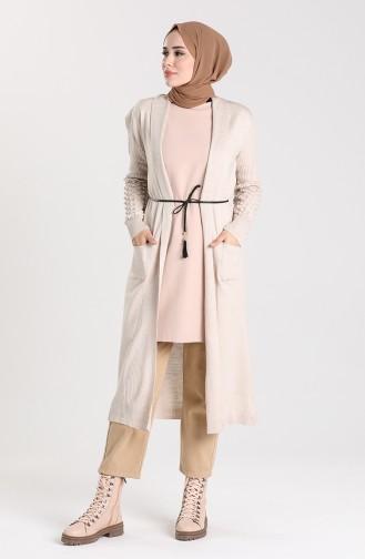 Knitwear Long Sweater 55221E-09 Beige 55221E-09