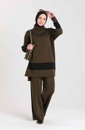 Knitwear Tunic Trousers Double Suit 4345-03 Dark Green 4345-03