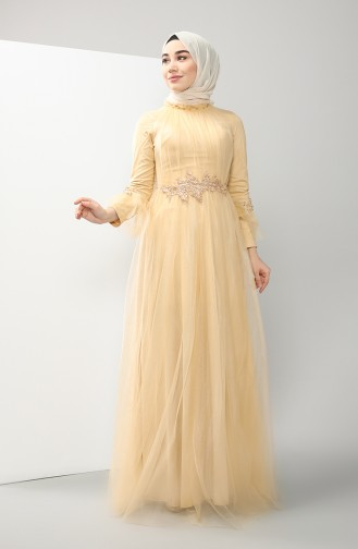 Habillé Hijab Beige 4825-01