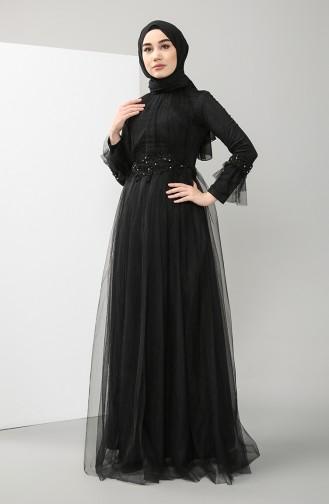 Lace Evening Dress 4825-03 Black 4825-03