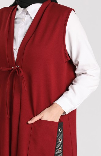 Claret red Gilet 4741-01
