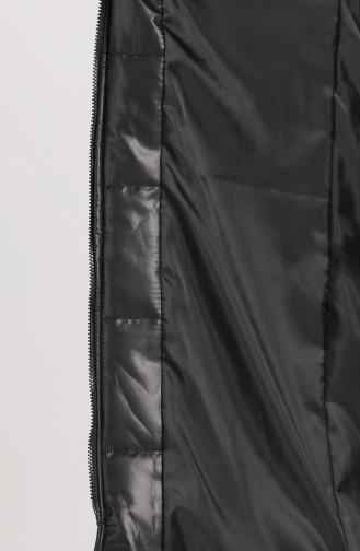 Zipper quilted Vest 1053d-01 Black 1053D-01