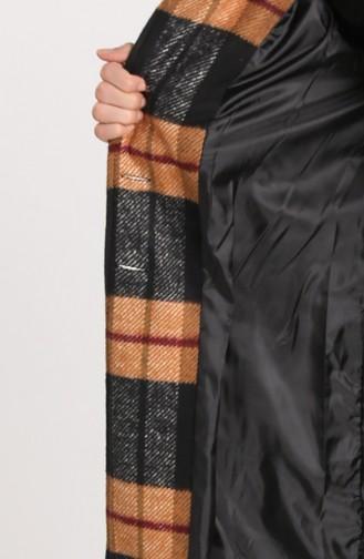 معطف طويل أسود 5339-11