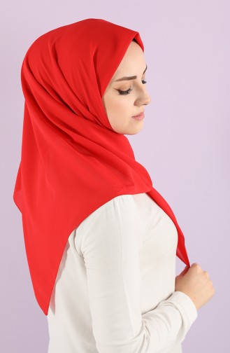 Plain Crepe Scarf 15238-08 Red 15238-08