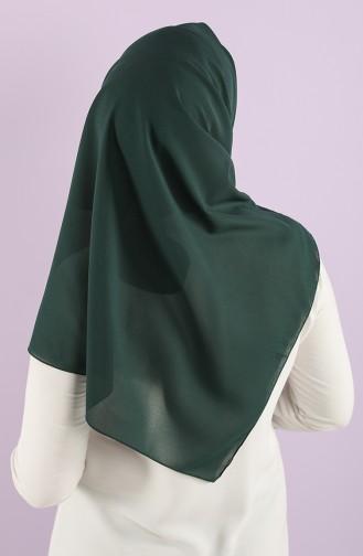 Plain Crepe Scarf 15238-14 Emerald Green 15238-14
