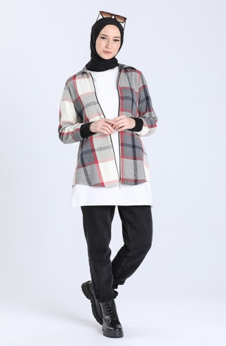 Beige Overhemdblouse 0039-02