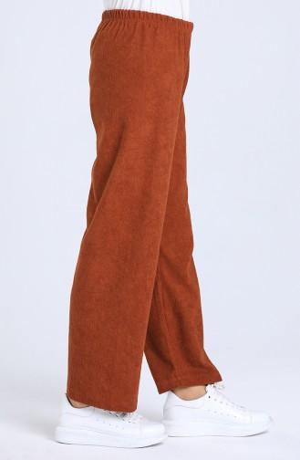 Pantalon Couleur brique 5081-02