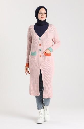 Knitwear Long Sweater 0117-09 Powder 0117-09