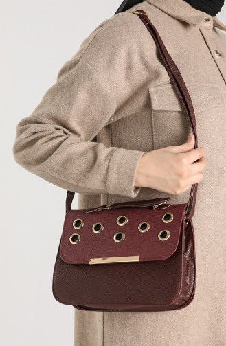 Claret Red Shoulder Bags 10116-05