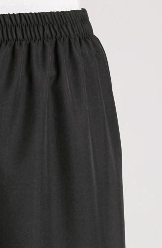 Beli Lastikli Bol Paça Pantolon 4011-01 Siyah