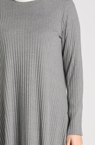 Kaşkorse Asimetrik Tunik Panton İkili Takım 7730-03 Füme