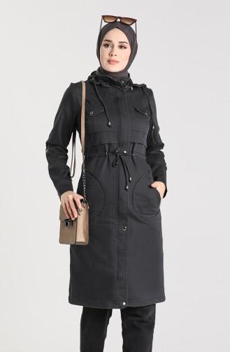 Black Trench Coats Models 6087-06