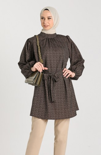 Belted Tunic 1162-03 Black 1162-03