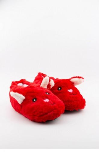 Akınalbella Hayvanlı Kadın Panduf H020 Z 043 Mm Kırmızı