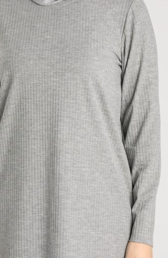 Fitilli Tunik Pantolon İkili Takım 2902-04 Gri