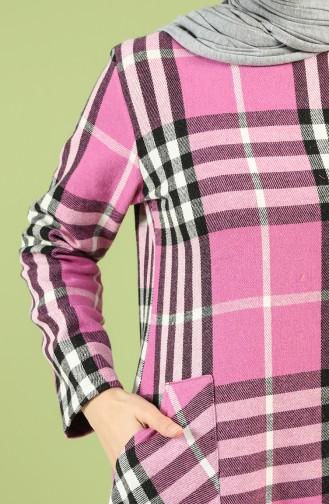 Plaid Long Tunic 3186-01 Lilac 3186-01