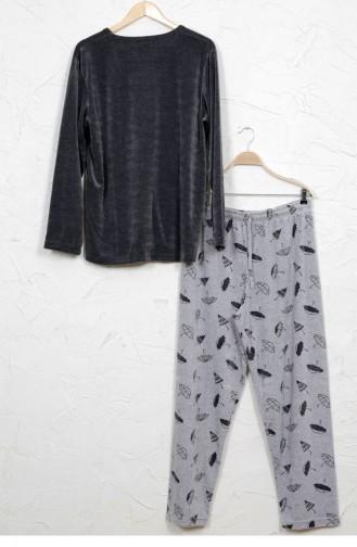 Anthrazit Pyjama 9031952312.ANTRASIT