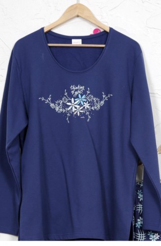 Vienetta Cotton Two Thread Pyjamas 8030594782 Indigo 8030594782.INDIGO