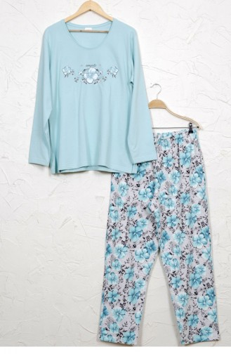 Vienetta Cotton Two Thread Pyjamas 8030616730 Blue 8030616730.MAVI