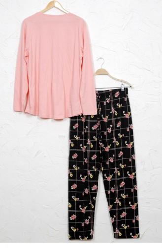 Vienetta Cotton Pyjamas 9051035767 Pink 9051035767.PEMBE